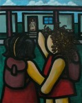 "Price $560. - ""El Primer Dia"" 24""x30"" mixed media on canvas"