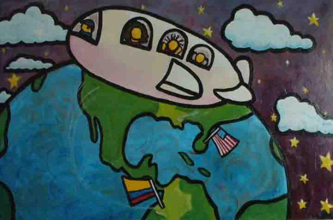 """El Viaje 24""""x36"""" acrylic on canvas"""