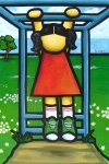 """Price $665 -Quality Time- Hangin', 24""""x36"""" mixed media acrylic painting on canvas- ©2009"""