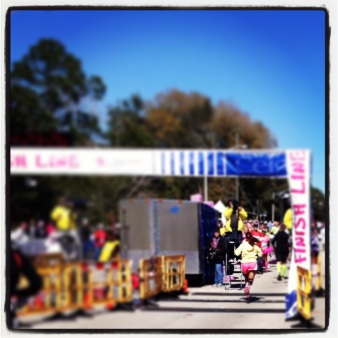 My lil' sis crossing the finish line of her first marathon!
