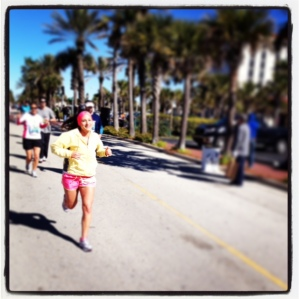 My lil' sis at mile 17.