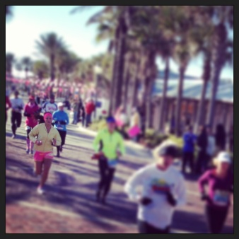 Lil' sis at mile 10 :)