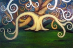 """Price  $665. From One Seed. 24""""x36"""" acrylic on canvas"""