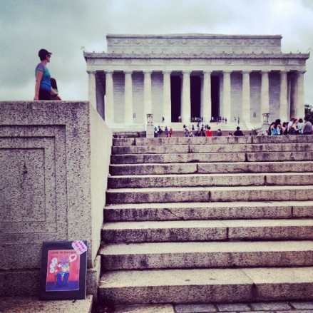 Random Act of Free Art Kindness: Lincoln Memorial