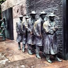 Breathtaking art at the FDR Memorial... — at Franklin Delano Roosevelt Memorial.
