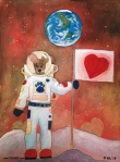 The Dingo Starring as an astronaut conquering the moon with love.