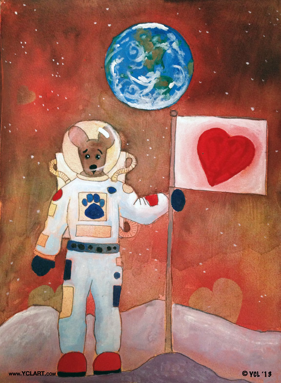 The Dingo Conquers the Moon with Love. Click the pic to purchase a print.