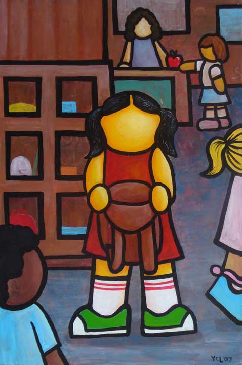 "Price  $665. ""I Remember the Worst Day of My Life: I Forgot My Crayons"" 24""x36"""