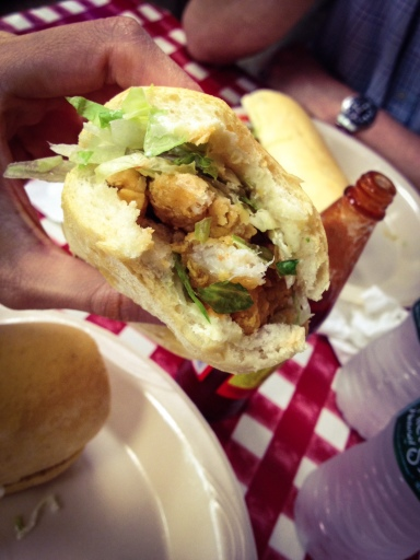 Shrimp Po Boy from Johnny's in the French Quarter